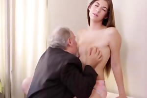 hot czech student screwed by her tricky old
