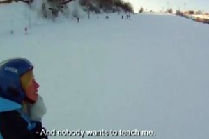 snowboarder chick loves cock