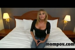 large mounds milf fucking and sucking on cock
