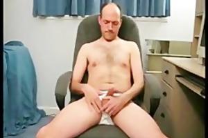 mature guy jerks off on camera