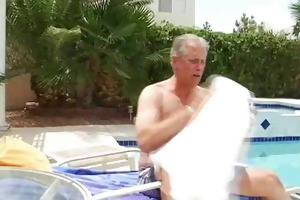 busty fairy surprises old guy by troc
