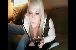 blonde milf webcam threesome