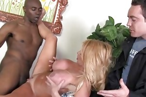 youthful foxy golden-haired milf acquires pumped