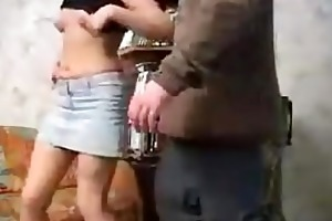 real daughter receive fucked by step dad in abode