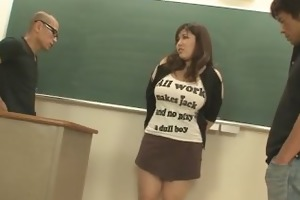 chubby and busty student fucked by hung and horny