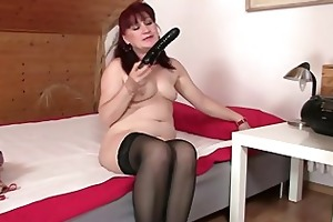 hawt mother in law rides his cock and receives