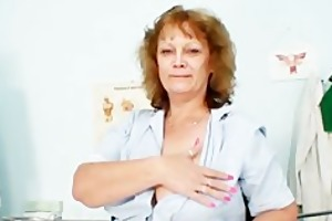 overweight old nurse mom acquires naughty in gyn