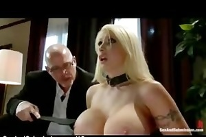 giant bumpers golden-haired spank and oral-sex by