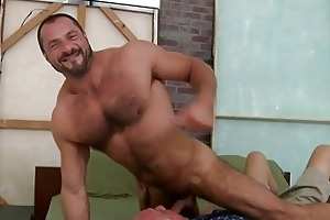 hot old guy is swallowing unfathomable a dudes