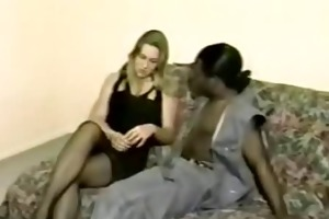 sexy blond plays with bbc during the time that