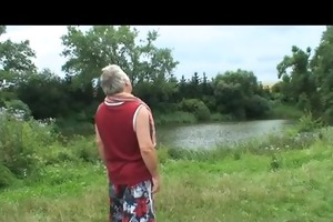 grandpa gets lucky with a blonde babe in the