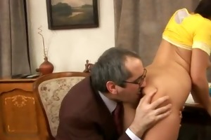 old russian teacher is very favourable