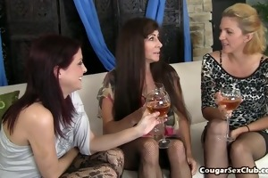 lustful housewives pounce on younger mans ramrod