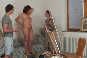 two juvenile painters gangbang in nature oldie