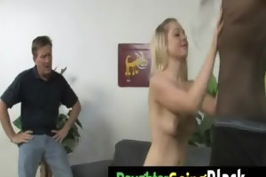 just watching my daughter fucking a darksome dong
