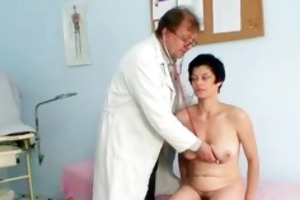 horny older mom acquires a fully body exam part5