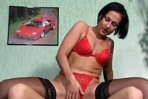 slutty brunette mother i secretary gets wet