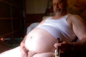 fat cigar dad beats off