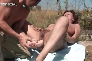astounding mamma getting her unshaved muf pounded
