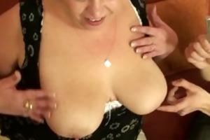 plump older whore takes juvenile cocks