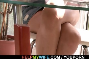 sweet wife rides strangers large meat