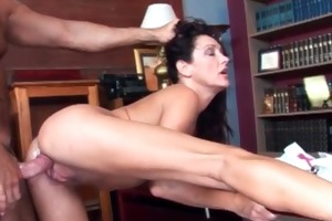 concupiscent slutty milf acquires wet pussy fucked