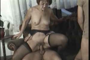 anal orgy with hot mature women who love it when