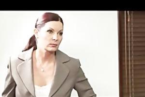 lesbian boss takes advantage of her employee