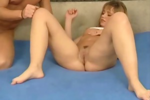 youthful dilettante couple homemade act with