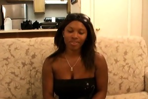 slutty young black girlfriend cherrie slurping a