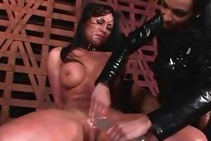 youthful female-dom punishing breasty slavegirl