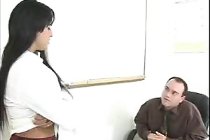 watch this hottie teasing her teacher to sex