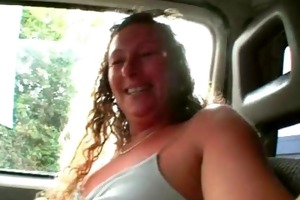 car blowjob with sexy and sexually excited milf