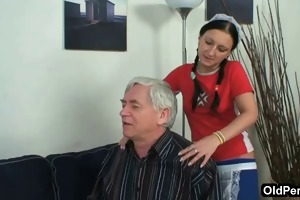 old chap bonks his sexy maid