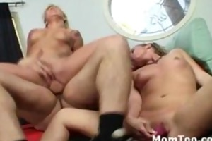 big gazoo young blond and mommy screwed by man in