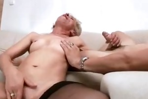 sexy granny with juvenile gent