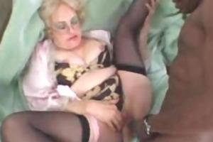 lascivious old blond takes big black knob