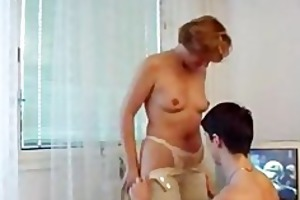 cougar bonks younger dude on the floor