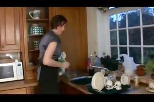 mama in kitchen