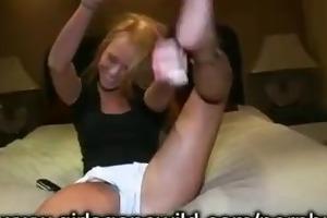 gals gone wild: hot supple cheerleader shows off