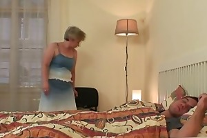 slutty granny seduces him but wife finds out!