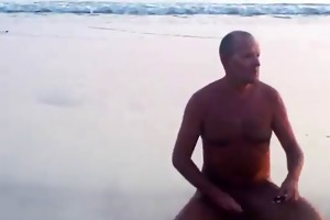 dad takes a stroll and blows the cameraman