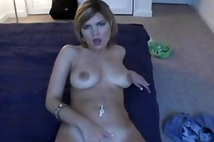 young girl enjoys pussystretch