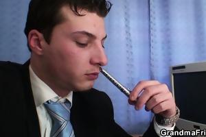 granny double oral-sex and fuck