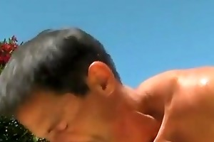 sexy gay sex daddy poolside prick