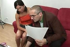 appealing gal pleasures her old corporalist