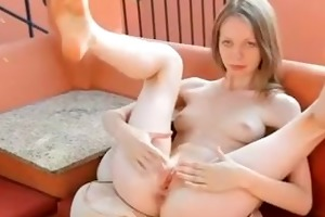 18 years old vagina gapping her hole
