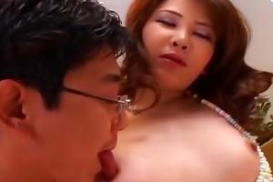 hot oriental brunette hair likes to fuck