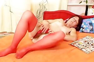 unsightly granny matylda widens and toys hairy