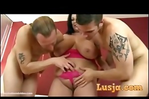 busty british mother i takes on 2 large cocks